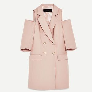 Zara Blazer Dress in Nude Pink